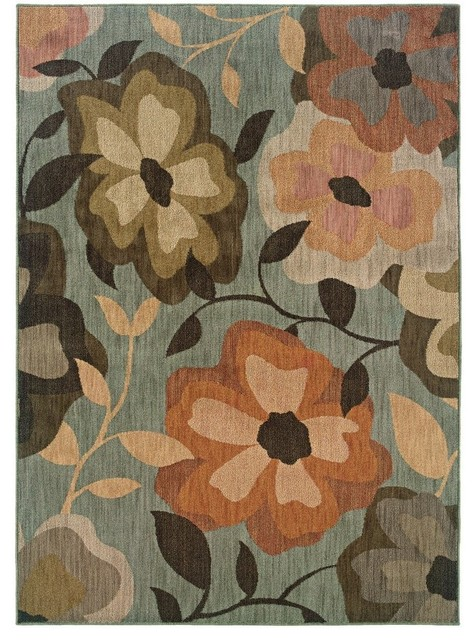 Oriental weavers sphinx palermo blue rug plm 2874c 5 39 3 for Farmhouse style kitchen rugs
