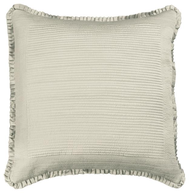 Lili Alessandra Battersea Taupe Euro Pillow Sham - Modern - Pillowcases And Shams - by Layla Grayce