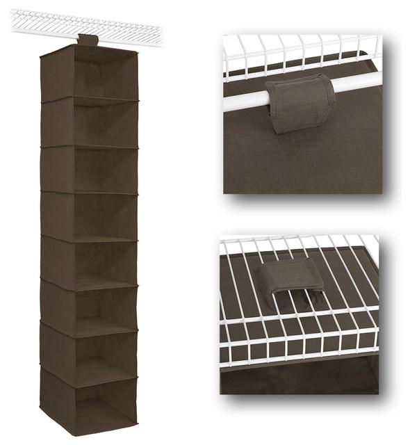 closetmaid 8 shelf hanging organizer traditional. Black Bedroom Furniture Sets. Home Design Ideas
