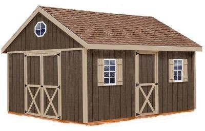 Easton 12 ft. x 20 ft. wood storage shed kit