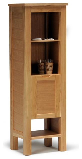 ontario colonne de salle de bains avec tablettes et porte campagne placard et tag re de. Black Bedroom Furniture Sets. Home Design Ideas