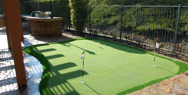 Putting greens other metro by wintergreen synthetic for Home turf texas landscape design llc