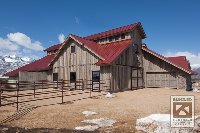 Barns salt lake city di euclid timber frames lc for Aggiunte di saltbox house