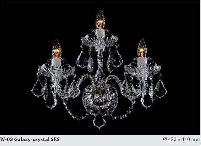 Bohemian Crystal Wall Lights : Bohemian crystal tripple wall sconce Chrome - Modern - Chandeliers - hobart - by Murano Art ...