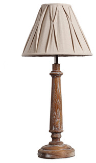 country style wooden candlestick table lamp rustic table lamps other me. Black Bedroom Furniture Sets. Home Design Ideas
