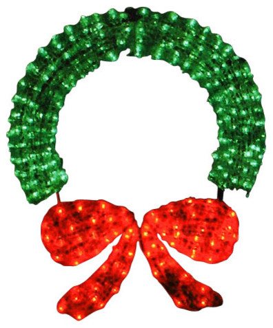 Lighted crystal 3d outdoor christmas wreath decoration 48 for 48 lighted crystal 3 d outdoor christmas wreath decoration
