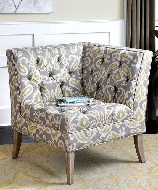Meliso Corner Chair Transitional Armchairs And Accent