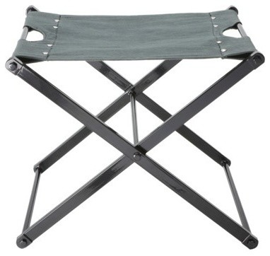 Nate Berkus Folding Metal Campaign Style Accent Stool