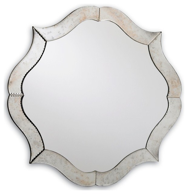 Currey Company Monteleone Mirror Modern Wall Mirrors: odd shaped mirrors