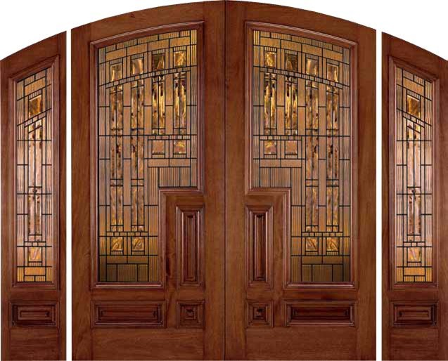 Jeld wen 202 genuine mahogany arch top doors and - Jeld wen exterior doors with sidelights ...