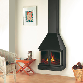 Rocal alba 60 wall mounted multifuel stove contemporary for Garden rooms rocal