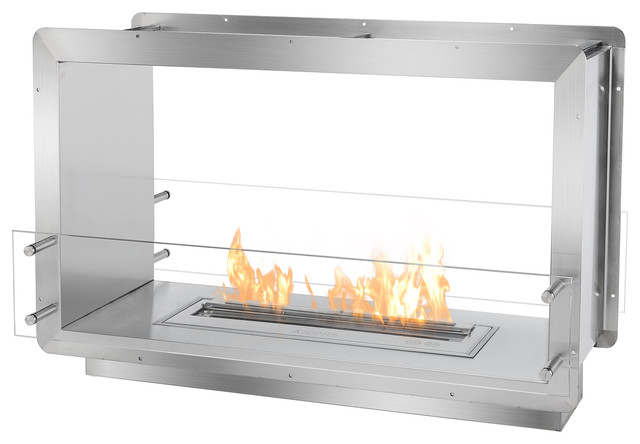 ignis ethanol fireplace insert contemporary indoor