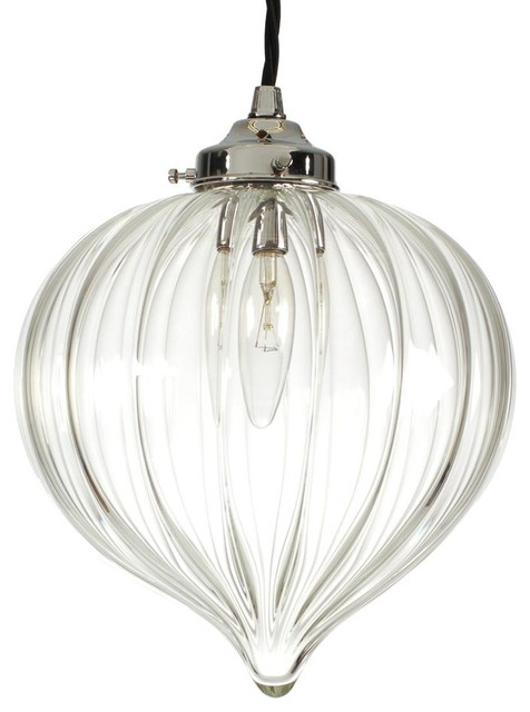 Ava Sparkling Glass Pendant Light