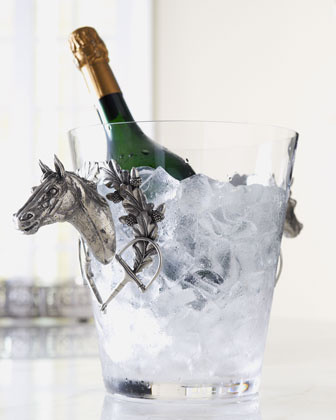 Vagabond House Ice Bucket With Horse Handles - Eclectic - Ice Tools And Buckets - by Neiman Marcus