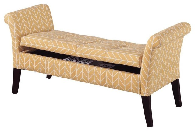 Ella Storage Bench Contemporary Accent Storage Benches By