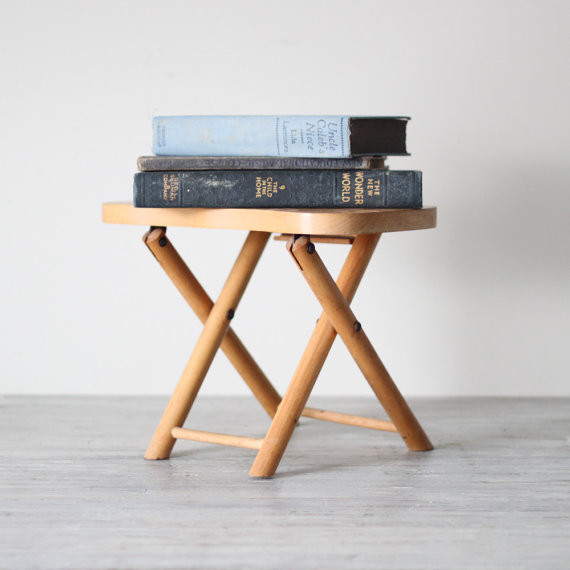 Wood Folding Step Stool Modern Side Tables And End