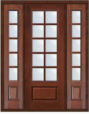 Prehung french sidelights door 96 fiberglass 3 4 lite 10 for 96 inch exterior french doors