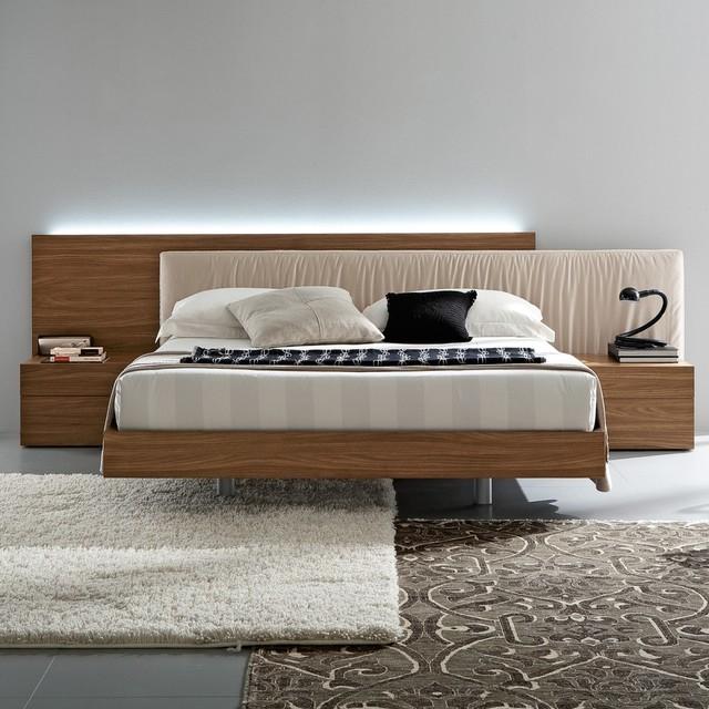 edge walnut bedroom set by rossetto modern bedroom furniture sets