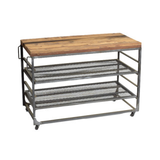 Easton Warehouse Cart Industrial Kitchen Islands And Kitchen Carts By Indeed Decor