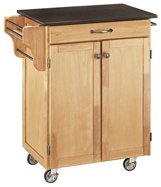 Kitchen Cart with Black Granite Top Contemporary Kitchen Islands And Kitc