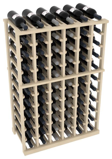 Wine Cellar Kit - 6 Column Rack - Half Height (Unfinished Pine) - Contemporary - Wine Racks - by ...