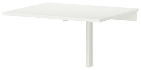 Norberg wall mounted drop leaf table white contemporary display and wall shelves by ikea - Wall mounted drop leaf table white ...