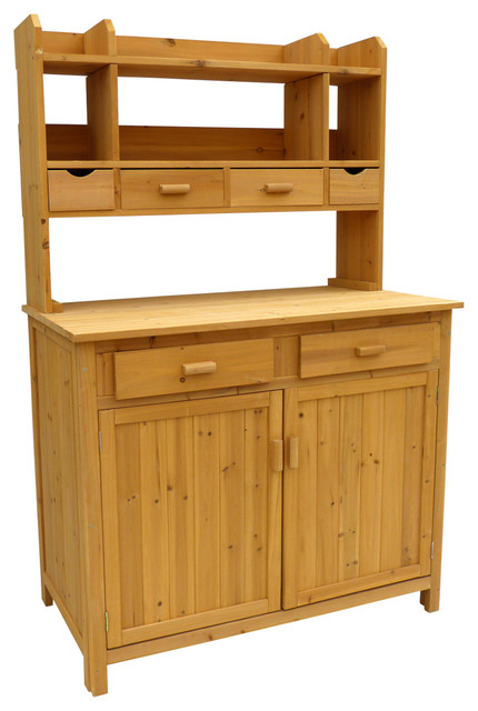 Potting bench storage contemporary potting benches - Potting bench with storage ...
