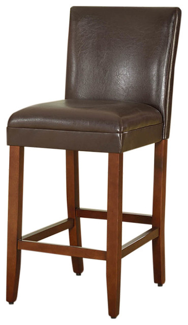 29 luxury faux leather barstool transitional bar for Luxury leather bar stools