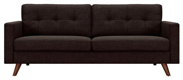 Mocha Brown Uma Sofa Midcentury Sofas By First Of A
