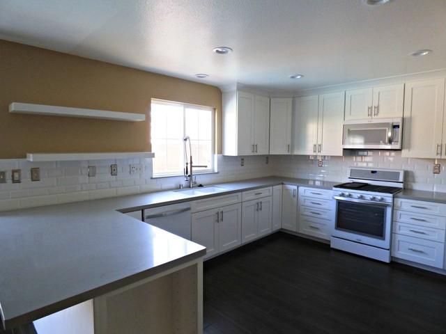 28 kitchen island contemporary all white all white - All white modern kitchen ...