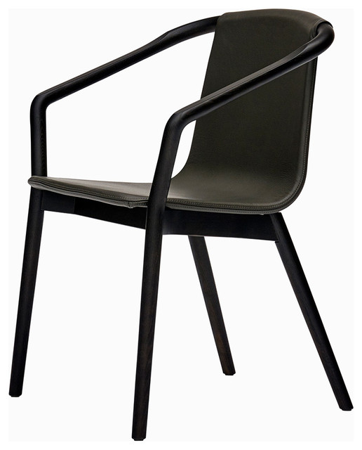 sp01 thomas chair in leather and carbon ash contemporary