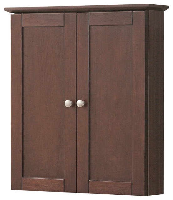 Columbia 21 Cherry Wall Cabinet Transitional Bathroom