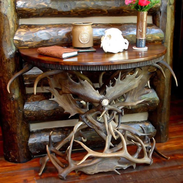 antler tables rustic coffee and accent tables other metro by