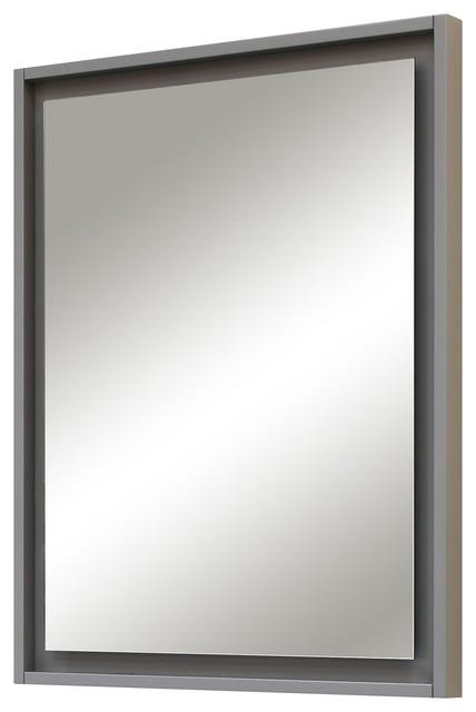 Harper Bathroom Mirror Gray Transitional Bathroom