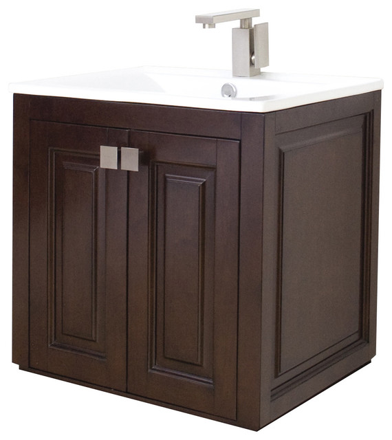 Transitional wall mount birch vanity base only tobacco 32 x18 transitional bathroom Transitional bathroom vanities