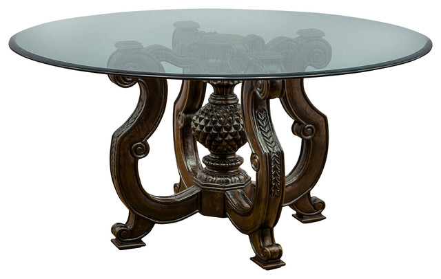 Round Beveled Glass Top Antique Gold Dining Tables by  : dining tables from www.houzz.co.uk size 640 x 406 jpeg 51kB