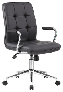 modern office chair with chrome arms black modern b rost hle von boss office products. Black Bedroom Furniture Sets. Home Design Ideas