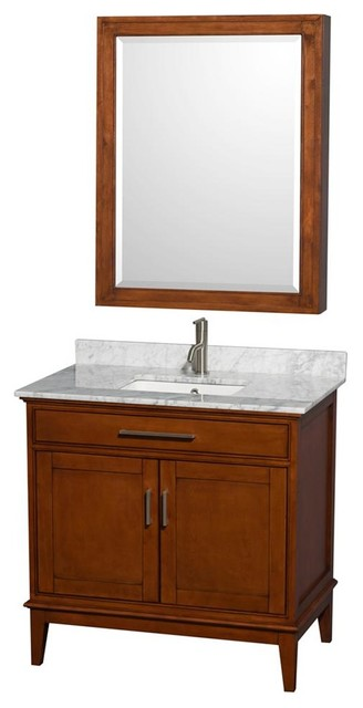 36 In Eco Friendly Wooden Vanity With Medicine Cabinet Transitional Bathroom Vanity Units