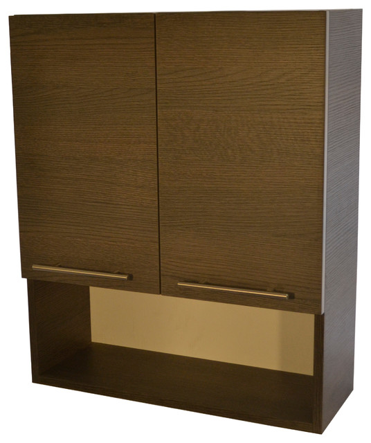 Stockholm Bathroom Wall Cabinet by KBD Designs - Gray Oak - Modern - Medicine Cabinets - by ...