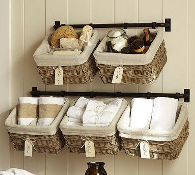 Hannah Wall Basket Storage System Small Towel Bar