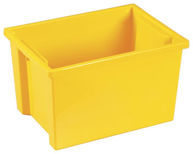 Ecr4Kids Classroom Rectangular Large Storage Organizer Plastic Bin Yellow 20 Pk - Contemporary ...