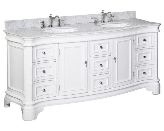"Kitchen Bath Collection - Katherine 72"" Double Sink Bath ..."