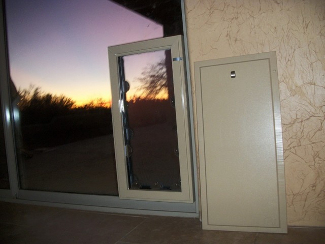 Pet doors in sliding glass french and standard doors - Dog door in glass french door ...