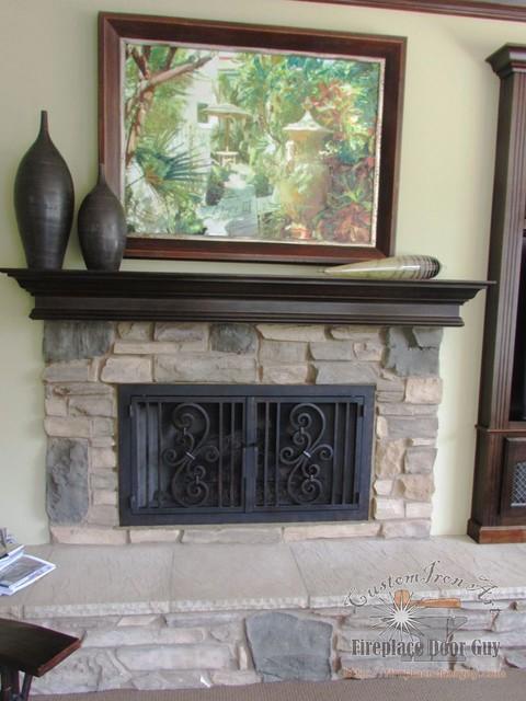 Fireplace doors - Houzz fireplace screens ...
