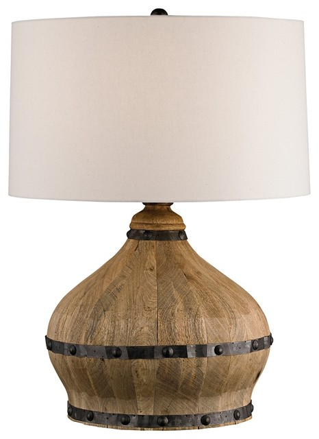 Currey and pany Farmhouse Wine Barrel Table Lamp Rustic Table Lamps
