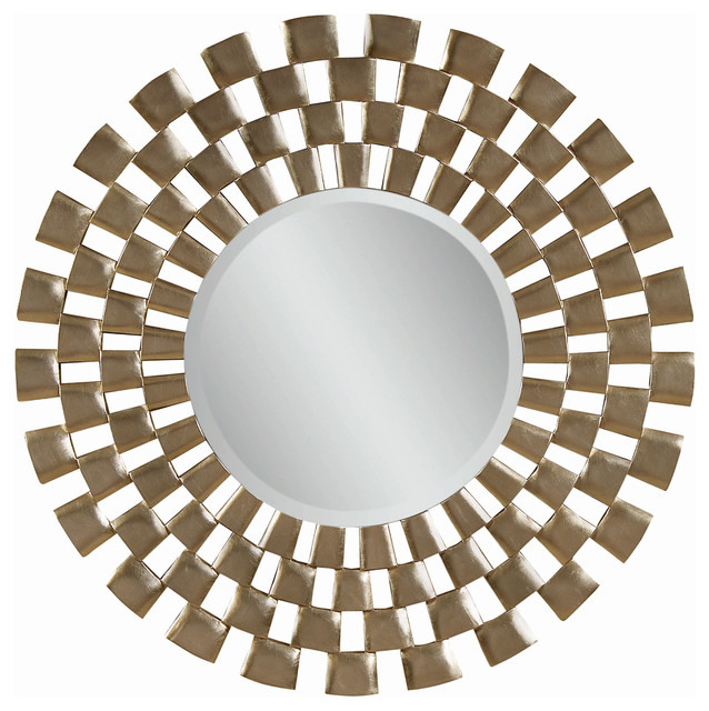 48 inch modern round wall mirror contemporary mirrors for Large contemporary mirrors