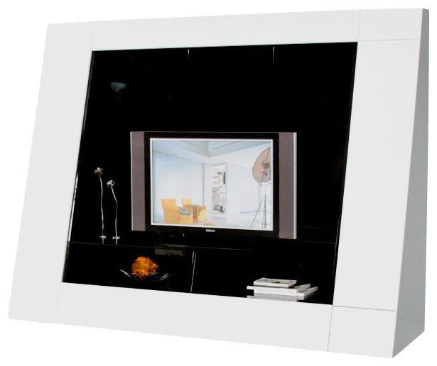 Bavaro White Hight Gloss Lacquer TV Etnertainment Center - Modern - Entertainment Centers And Tv ...
