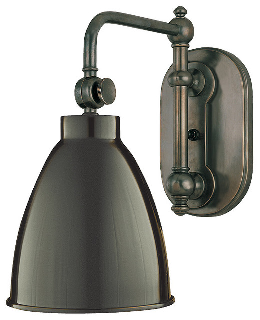 Wall Sconces Industrial : Hudson Valley Lighting 1429-OB Somerset Old Bronze Wall Sconce - Industrial - Wall Sconces - by ...