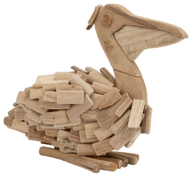 Regal And Classic Style Driftwood Pelican Home Accent
