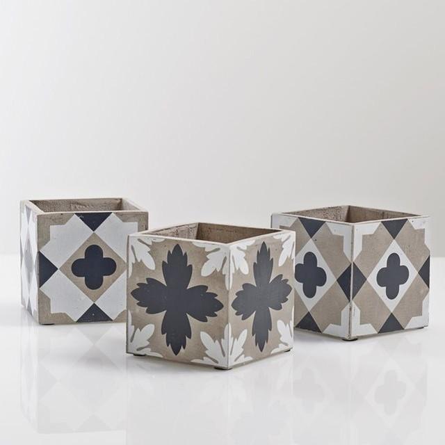cache pots herri lot de 3 contemporain objet d coratif et figurine par la redoute int rieurs. Black Bedroom Furniture Sets. Home Design Ideas